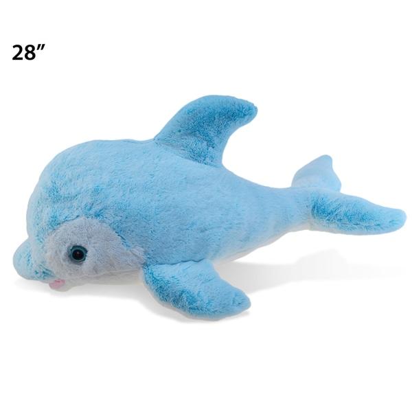 Puzzled Inc Blue XL Super Soft Plush Dolphin