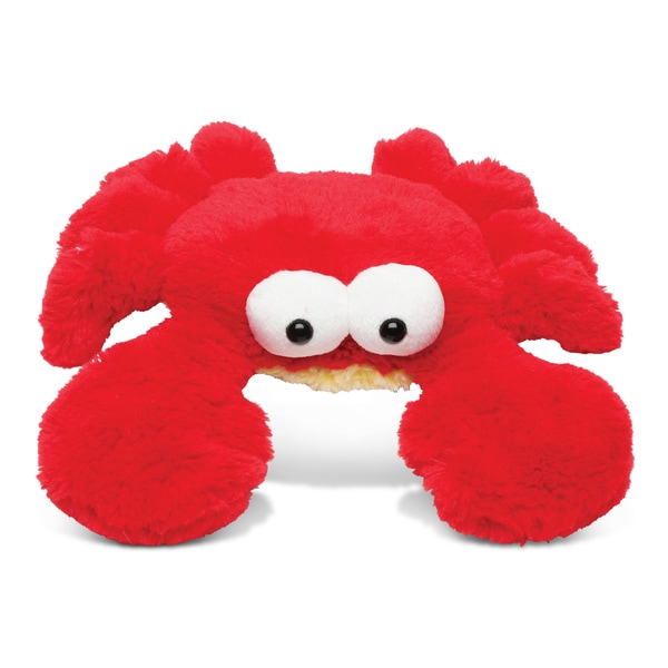 Puzzled Red Small Googly Eyes Super Soft Plush Crab