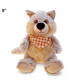 Puzzled Super Soft Plush Sitting Wolf