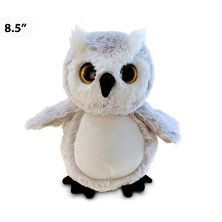 Puzzled Ivory-colored Plush Owl Toy