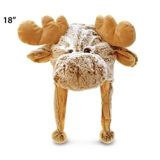 Puzzled Super Soft Plush Moose Hat