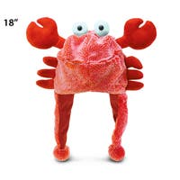 Puzzled Red Super Soft Plush Crab Hat