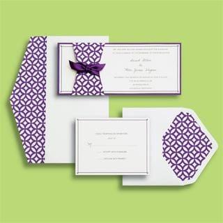 Brides Purple Skinny Modern 30-count Invite Kit