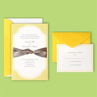 Brides Herringbone 40-count Invite Kit