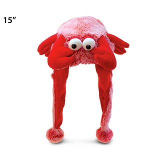 Puzzled Super Soft Plush Red Lobster Hat