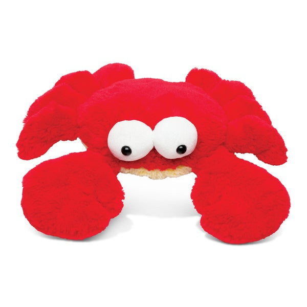 Puzzle Inc Super Soft Red Large Plush Googly Eyes Crab