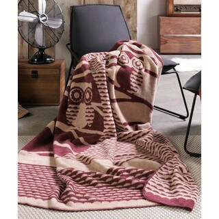 IBENA Owl in Tree Oversized Throw