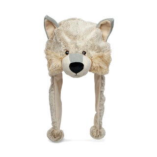 Puzzled Super Soft Plush Wolf Hat