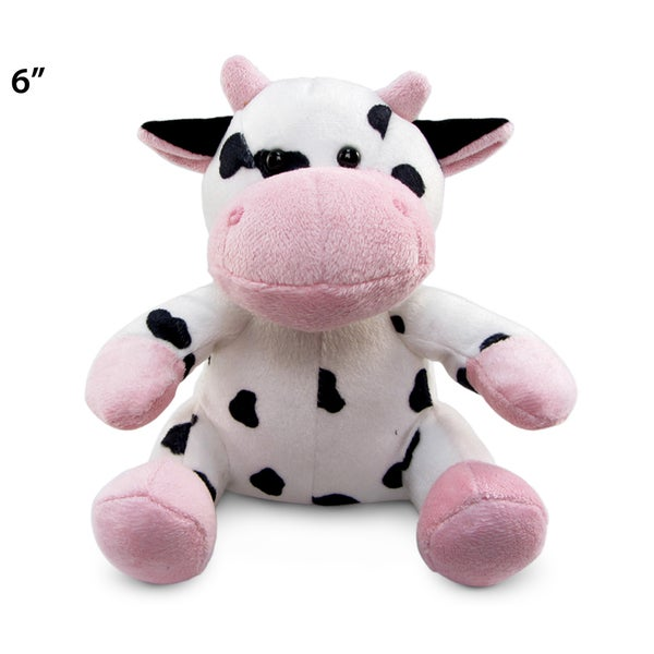 Puzzled 6-inch Plush Cow