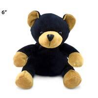Puzzled 6-inch Plush Black Bear Stuffed Toy