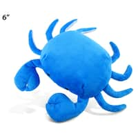 Puzzled Crab Blue 6-inch Plush