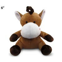 Puzzled 6-inch Horse Plush Stuffed Animal