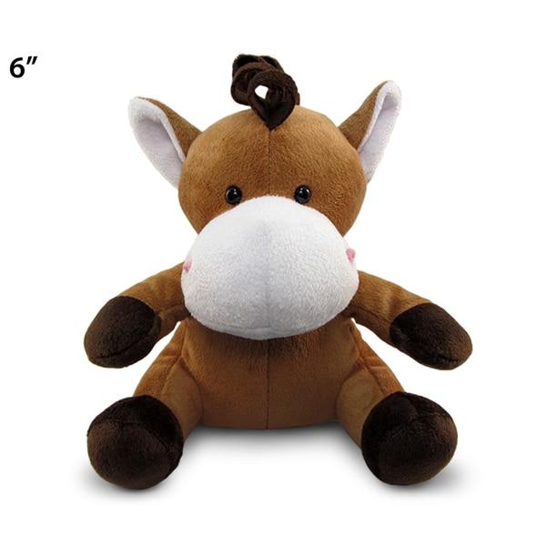 Puzzled 6-inch Horse Plush Stuffed Animal