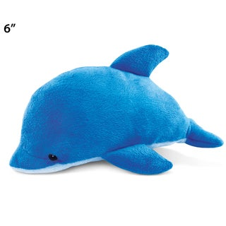 Puzzled Blue 6-inch Plush Dolphin
