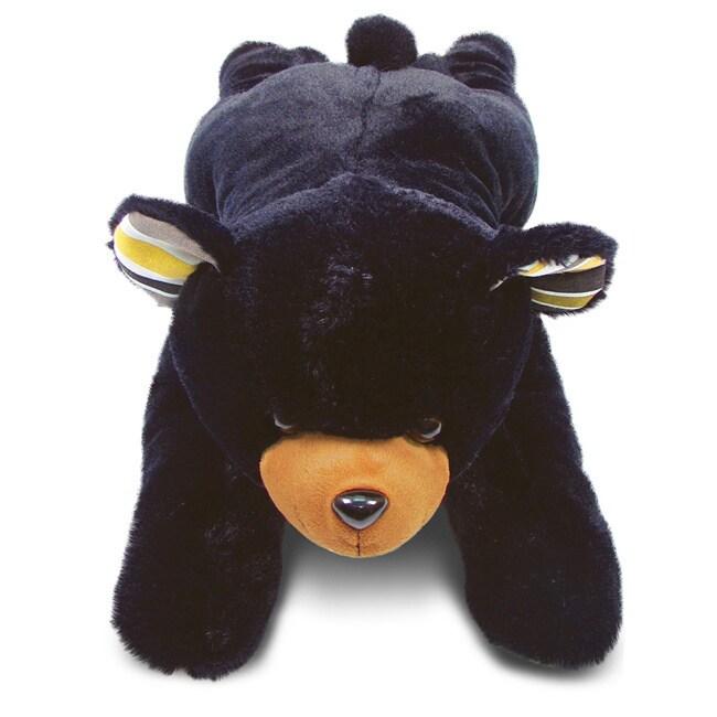 Puzzled Stylish Plush Pillow Xl Black Bear (Product size:...