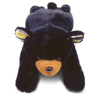 Puzzled Stylish Plush Pillow Xl Black Bear