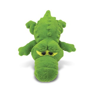 Puzzled Green XL Alligator Plush Pillow