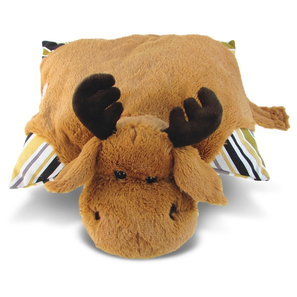Puzzled Plush Moose Pillow