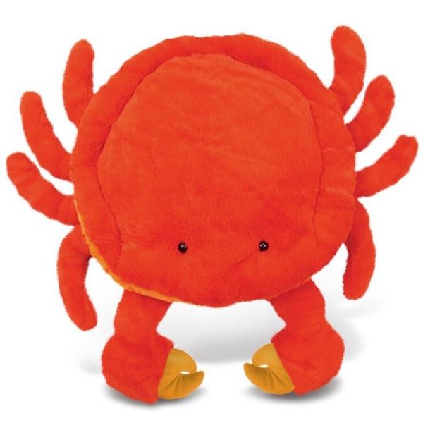 Puzzled Orange XL Plush Crab Pillow
