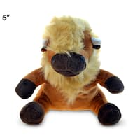 Puzzled Inc Brown 6-inch Plush Buffalo