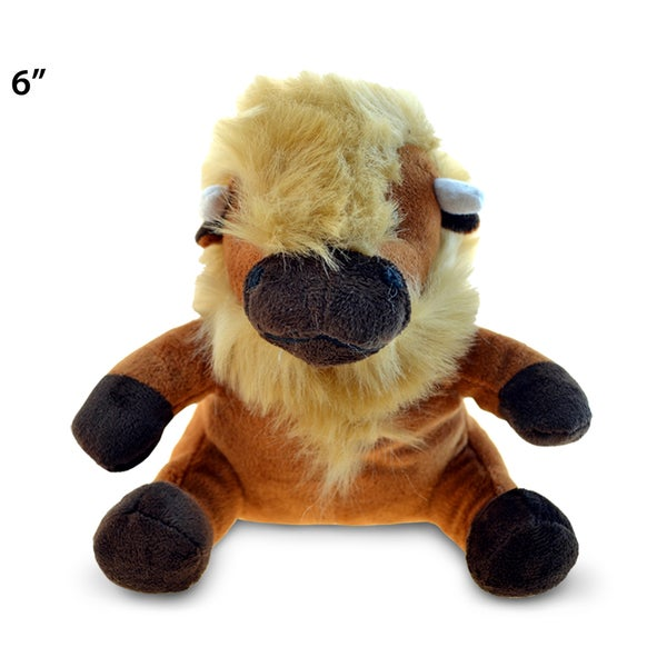 Shop Puzzled Inc Brown 6 Inch Plush Buffalo Free Shipping On