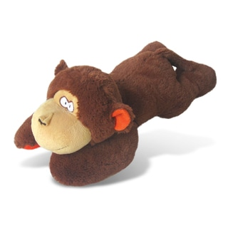 Puzzled Brown Plush Extra-large Monkey Pillow
