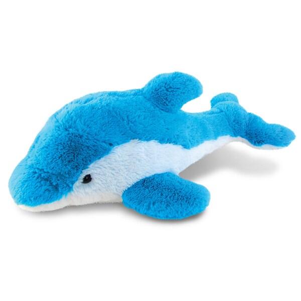 Puzzled Blue Super Soft Plush Dolphin