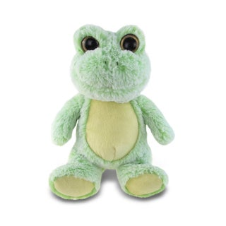 Puzzled Sitting Frog Super Soft Plush