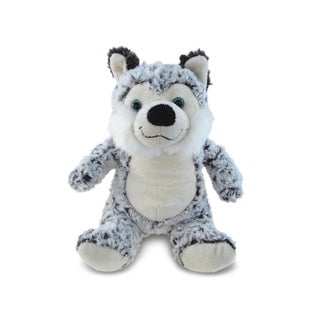Puzzled Super Soft Plush Sitting Husky