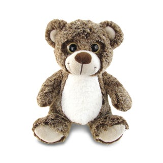 Puzzled Sitting Brown Bear Super Soft Plush