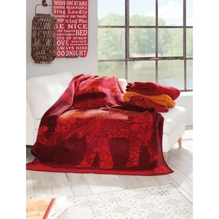 IBENA Messina Dehli Elephant Oversized Throw