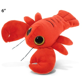 Puzzled Red Plush Big-eyed 6-inch Lobster Toy