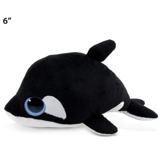 Puzzled 6-inch Big Eye Plush Killer Whale