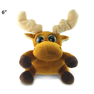 Puzzled Big Eye 6-inch Plush Moose