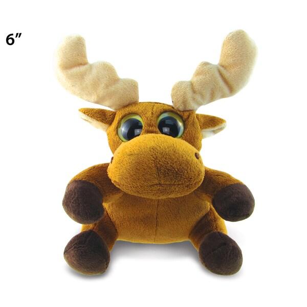 Puzzled Big Eye 6-inch Plush Moose