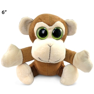 Puzzled Big Eye 6-inch Plush Monkey