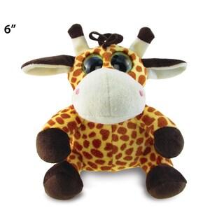 Puzzle Inc Brown and Orange 6-inch Plush Big Eye Giraffe