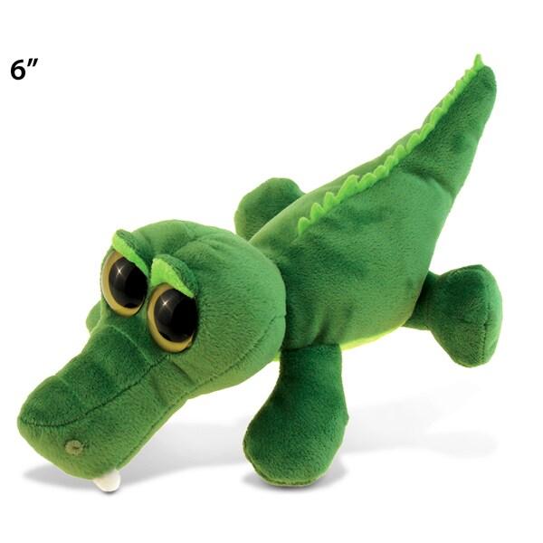 Puzzled 6-inch Big Eye Plush Alligator