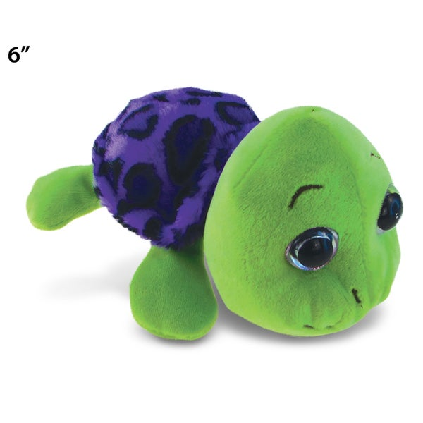 Puzzled Big Eye 6-inch Plush Purple Shell Sea Turtle