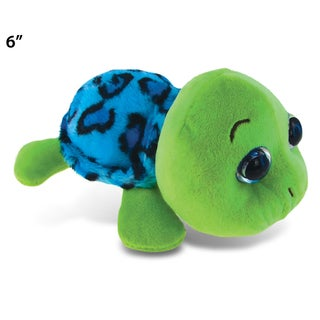 Puzzled Inc. Blue Shell 6-inch Plush Big-eye Sea Turtle