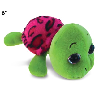 Puzzled Inc. Pink 6-inch Plush Shell Big-eye Sea Turtle