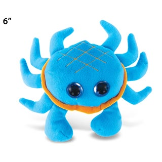 Puzzled Big Eye 6-inch Plush Blue Crab