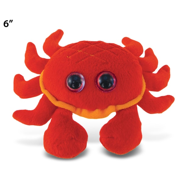 Puzzled Red 6-inch Big Eye Plush Crab