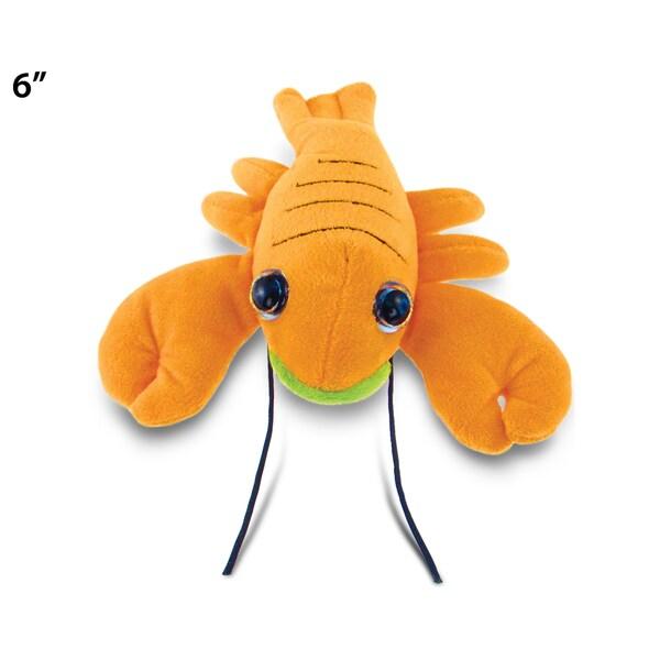 Puzzled Lobster Orange 6-inch Big-eye Plush