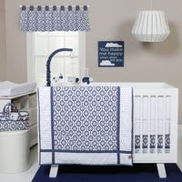Trend Lab Blue and White Hexagon 3-piece Crib Bedding Set