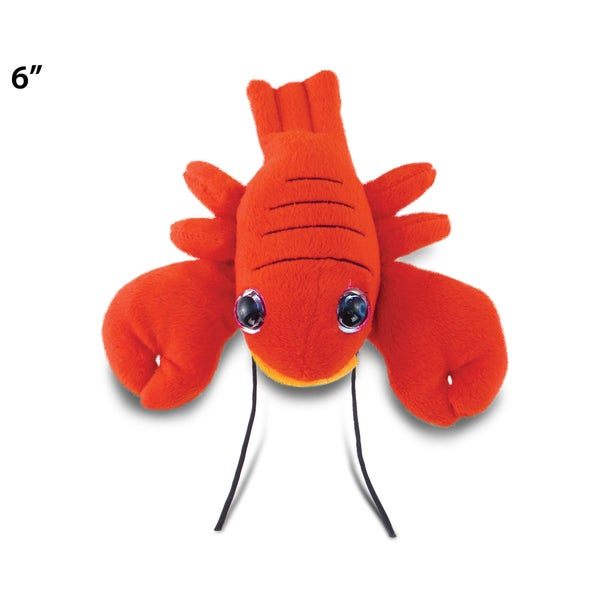Puzzled Big Eye 6-inch Plush Red Lobster