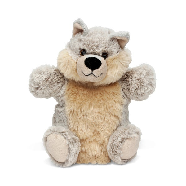 Puzzled Inc. Super-soft Plush Wolf Hand Puppet