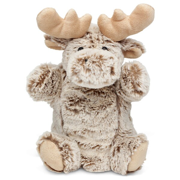 Puzzled Super Soft Plush Moose Hand Puppet