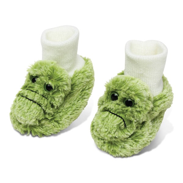 Puzzled Green Plush Baby Alligator Shoes