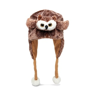 Puzzled Super Soft Plush Owl Hat